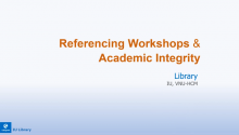 Referencing Workshops